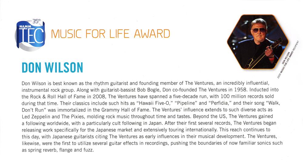 music for life award